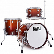 NATAL KAR-TJ-SNB ARCADIA DRUM SET TRADITIONAL JAZZ WITH HARDWARE SUNBURST LACQUER