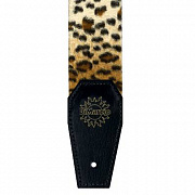 DIMARZIO 2 INCH CHEETAH STRAP W/LEATHER ENDS DD3310CH