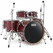 NATAL KAR-F20-RDS ARCADIA DRUM SET FUSION 20 PACK WITH HARDWARE RED SPARKLE