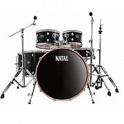 NATAL KAR-UF22-TRB ARCADIA DRUM SET UF22 PACK WITH HARDWARE TRANSPARENT BLACK LACQUER