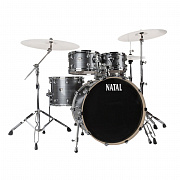 NATAL KAR-UF22-BLS ARCADIA DRUM SET UF22 PACK WITH HARDWARE BLACK SPARKLE